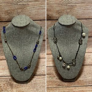 TWO J. Crew Long Layering Bauble Necklaces